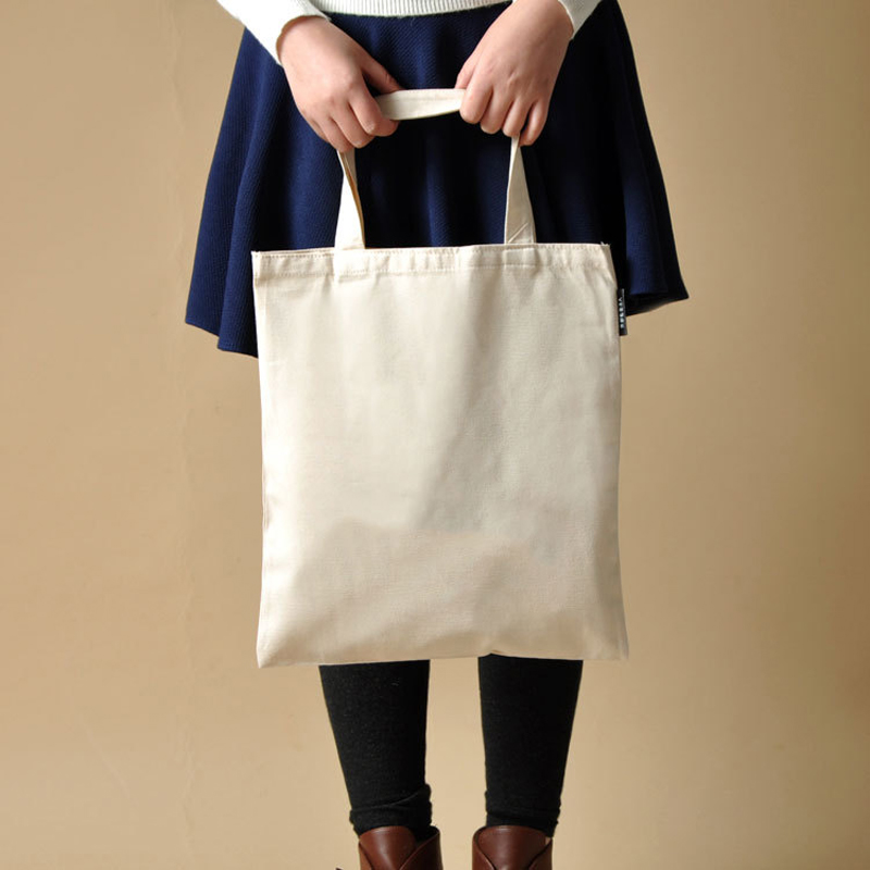Blank Pattern Canvas Shopping Bags Eco Reusable Foldable Shoulder Bag Handbag Tote Cotton Tote Bag Wholesale Custom