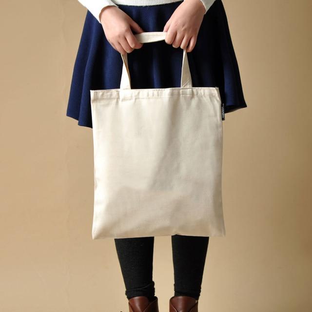 29ea40b3a8ac 2017 Blank pattern Canvas Shopping Bags Eco Reusable Foldable Shoulder Bag  Handbag Tote Cotton Tote Bag Wholesale Custom