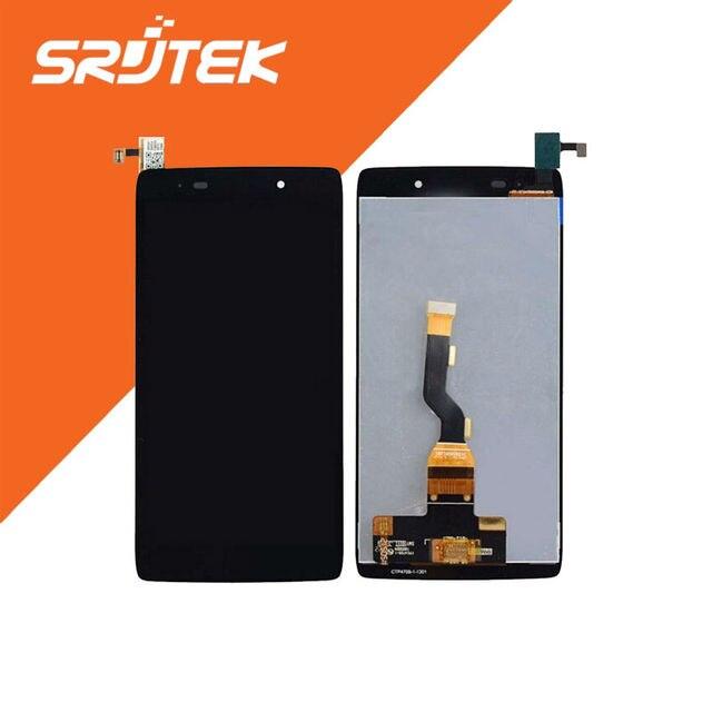 Para alcatel one touch idol 3 ot6039 6039 display lcd touch screen digitador assemblely preto frete grátis