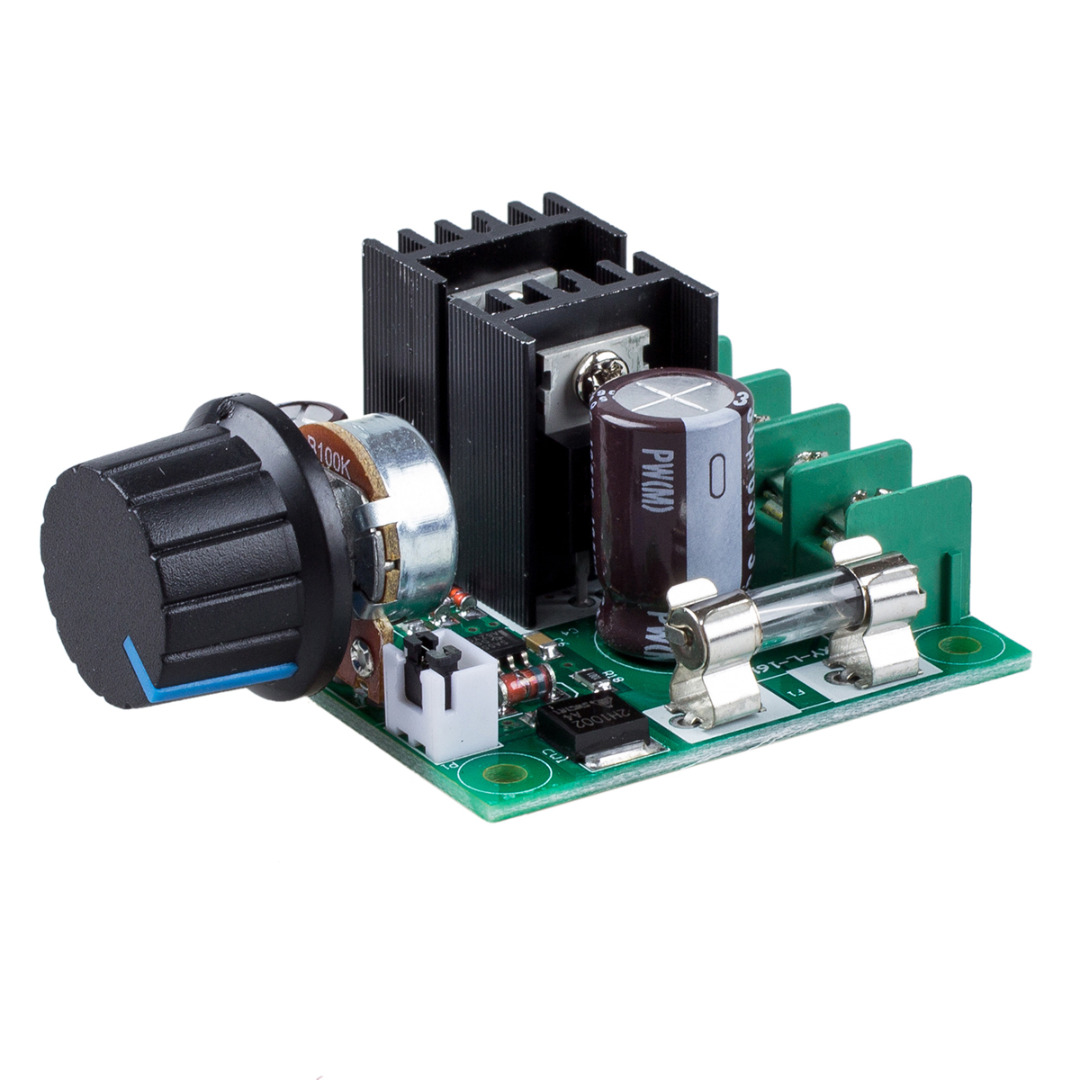 цена на 12V-40V DC Speed Controller 10A PWM DC Motor Speed Controller 73X60X27mm Dimmer Voltage Regulator With Knob