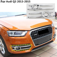 High Quality Head Hoods Front Fog Light Lamp Detector Frame Stick Style ABS Chrome Cover Trim