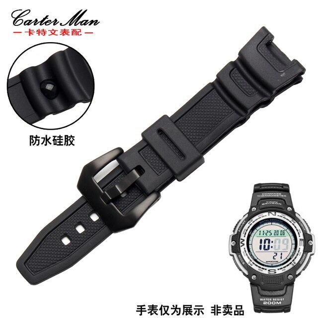 Vendita Calda Per Casio Sgw-100 Con Cinghie Impermeabile Cinturino In Gomma Con