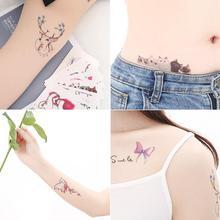 60 Pcs Waterproof Temporary Tattoos Small Fresh Sexy Stickers Beauty Women Girls Body Arm Leg Bikini Tattoo Sticker fresh beauty