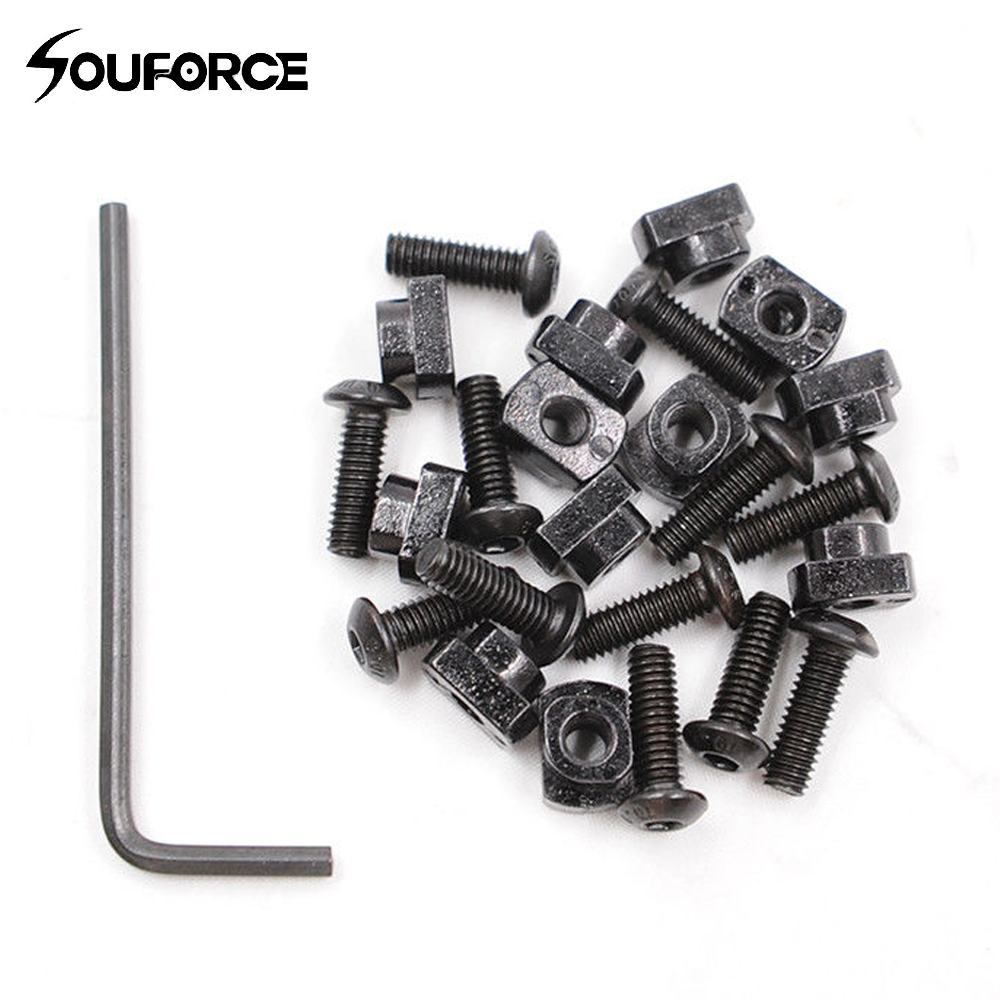 12Pcs Metal Screw and Nut Replacement Set fit M-LOK Rail Sections for Hunting(China)