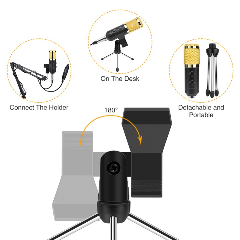 Ituf Professional Condenser USB Microphone BM900 for computer BM-800 Upgraded Audio Studio Vocal Recording KTV Adjustable volume-6