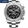 LOREO Men Watches Auto Date Watch Sports Stainless Steel Strongest Luminous Waterproof 200m Diver Mechanical Wristwatches PO09