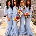 Custom Elegant A-line Long Goddess Bridesmaid Dresses Sweetheart Appliqued Chiffon Wedding Party Dress 2015