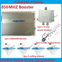 3W CDMA repeater 850MHz cell phone Signal Booster 2g gsm Repeater amplifiers LTE 4G cellular signal booster + omni antenna