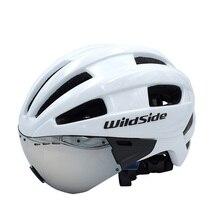 Cairbull Aero взрослые очки шлем велосипедный гоночный время Гоночный шлем Спортивная безопасность In-mold TT объектив шлемы M L 54-см 62 см очки