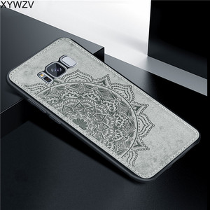 Image 1 - For Samsung Galaxy S8 Plus Case Luxury Soft Silicone Luxury Cloth Texture Hard PC Phone Case For Samsung Galaxy S8 Plus Cover