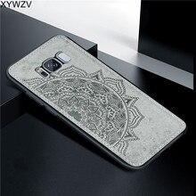 Para Samsung Galaxy S8 Plus Caso De Luxo Textura De Pano de Luxo Macio Silicone Caso Telefone Rígido de PC Para Samsung Galaxy S8 mais Cobertura