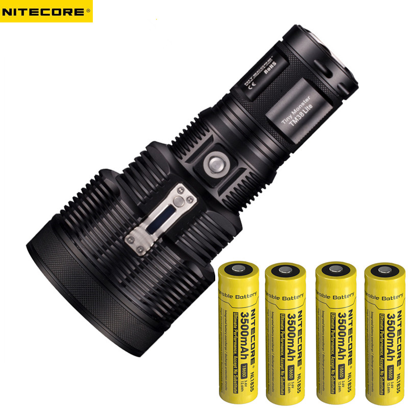 2017 NEW Nitecore TM38 Lite Tiny Monster CREE XHP35 HI D41800 Lumen Long Throw Rechargeable LED