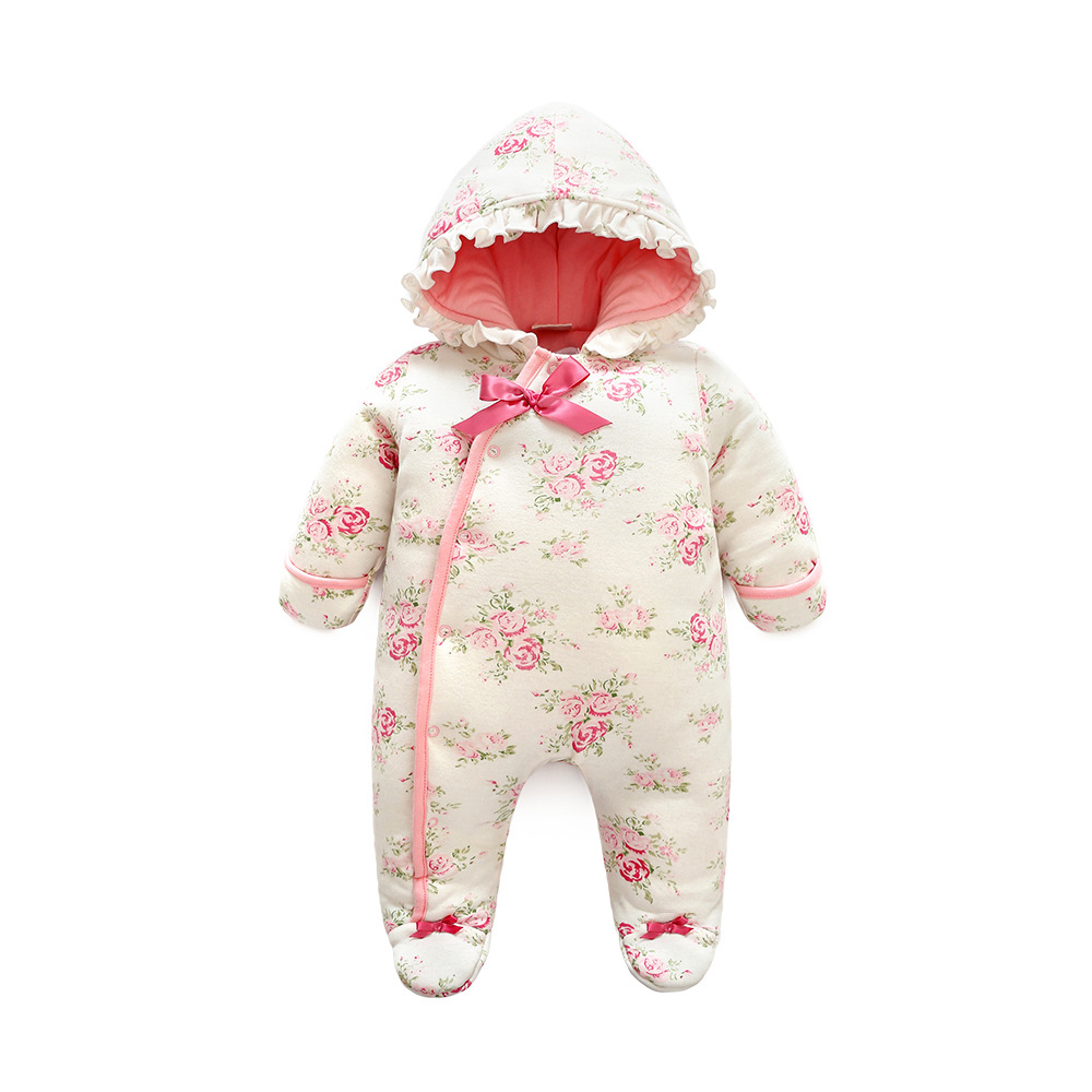 2ead5bc332f22 Orangemom Offical Store Newborn Baby Winter Outwear Rompers Footies Girls  Girls Princess Clothes Girls Pink Cute