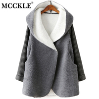 Women S Long Hooded Lambswool Pacthwork Loose Oversize Cardigans 2016 Autumn Winter Fashion Women Knitted Outwear