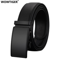 REGITWOW Fashion Automatic Buckle Leather Luxury Tactical Men Belts Business Alloy Buckle Belts For Men