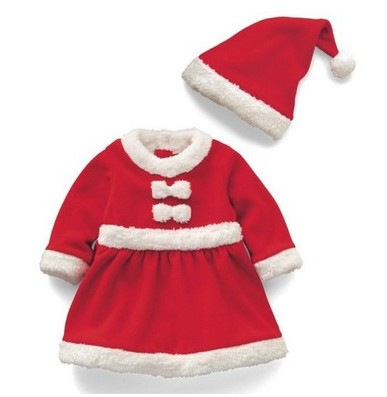 ФОТО Children's new Christmas clothes Private Christmas costumes Santa dress suit children's wear Christmas clothes