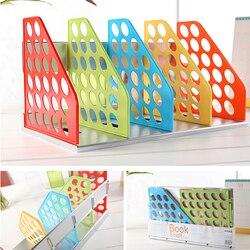 Kreatywne papiernicze kolorowe książki półki  biurko biuro w domu pracy pliki kolekcja organizer na biurko plastikowe niepołączone