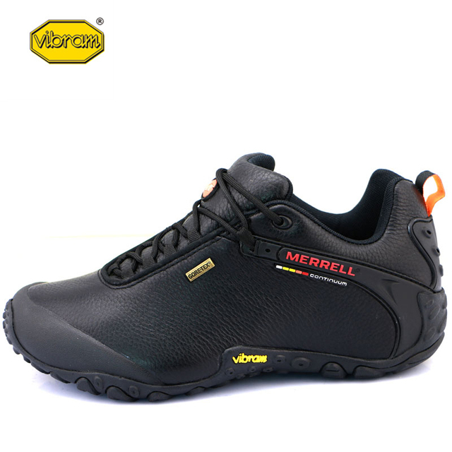 Vibram Original Outdoor Men's Camping Genuine Leather Hiking Shoes for Male Mountaineer Climbing Sneakers