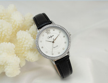 Onlyou Brand Women Watches White Leather Bracelet Wrist Watch Fashion Casual Ladies Gold Rhinestones Dress Watch Girl Gift 81039