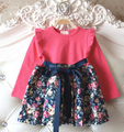 Girls princess dress 2015 new girls Christmas dress spring  kids dress flowers children dress