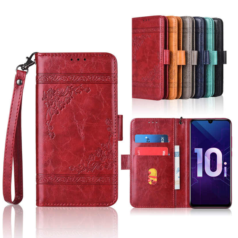 TPU Wallet case for Huawei Honor 10i 10 i Honor10i HRY-LX1T HRY-LX1 Cover with Strap,With Card Pocket Kickstand Fitted Case