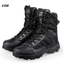 лучшая цена CQB Outdoor Sports Climbing Tactical Military Men Boots Lightweight Shoes for Camping Hiking with Rubber Wear-resistant