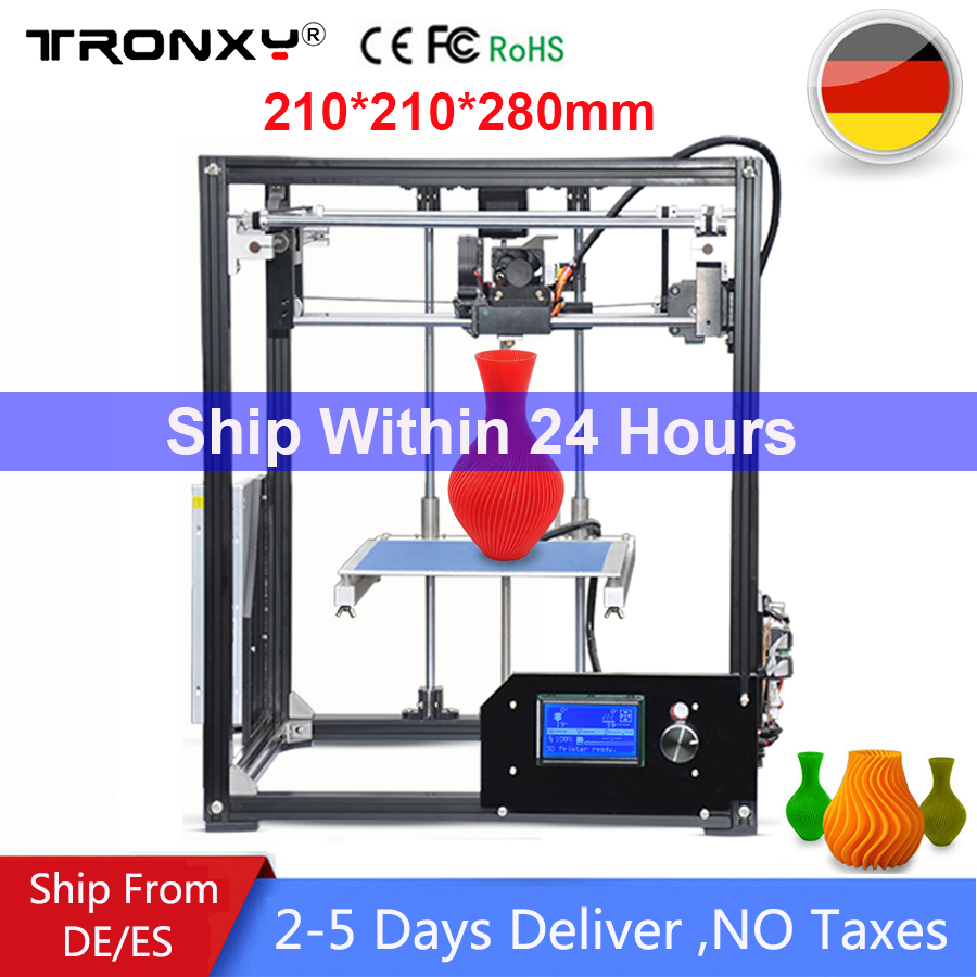 2018 Tronxy 3D Printer X5 I3 DIY Kit Metal Large Printing Size 210*210*280mm extruder LCD Screen 10M Filament 8G SD Card as gift tronxy 3d printer all metal upgrade frame 3 3 lcd screen dual z axis extruder 3d printer diy kit 10m filament 8g sd card gift