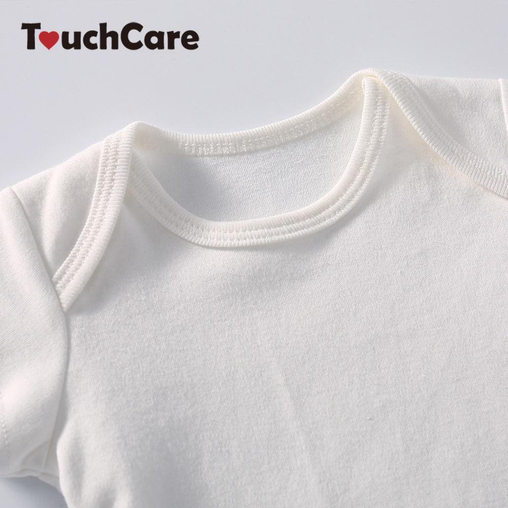 a57d1c445 Solid White Baby Romper Cotton Newborn Jumpsuit Long Sleeve Infant ...