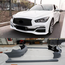 Q50 E styling FRP car body kits bumper for infiniti 2014UP with high quality