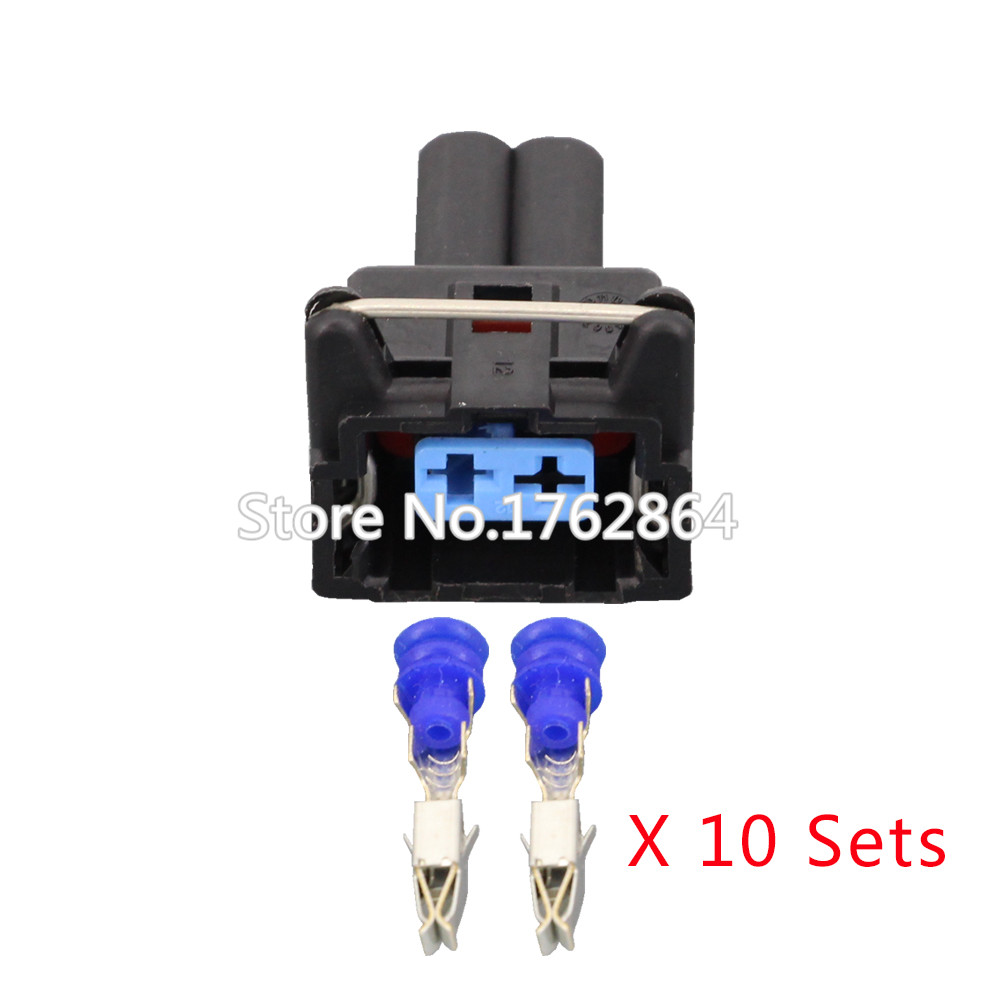 10 PCS 2pin Automotive Connector 2-Wire Harness Connector Plug with  Terminals DJ7023Y-3.5-21 2P