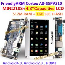 Free shipping FriendlyARM Cortex A8 S5PV210, MINI210S+4.3 inch Resistance Touch Screen Display,512M RAM+1GB Flash,Android4.0