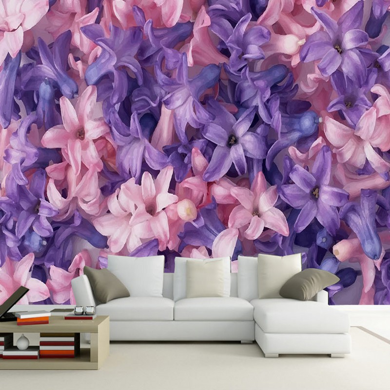 Custom photo wallpaper Modern purple lily wallpaper custom bedroom hotel flower shop living room 3D stereo mural миска lily flower g2286 h4266