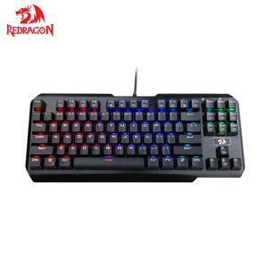 Механическая игровая клавиатура Redragon USAS K553 LED RGB с подсветкой, 87 клавиш, с защитой от ghosting для геймеров
