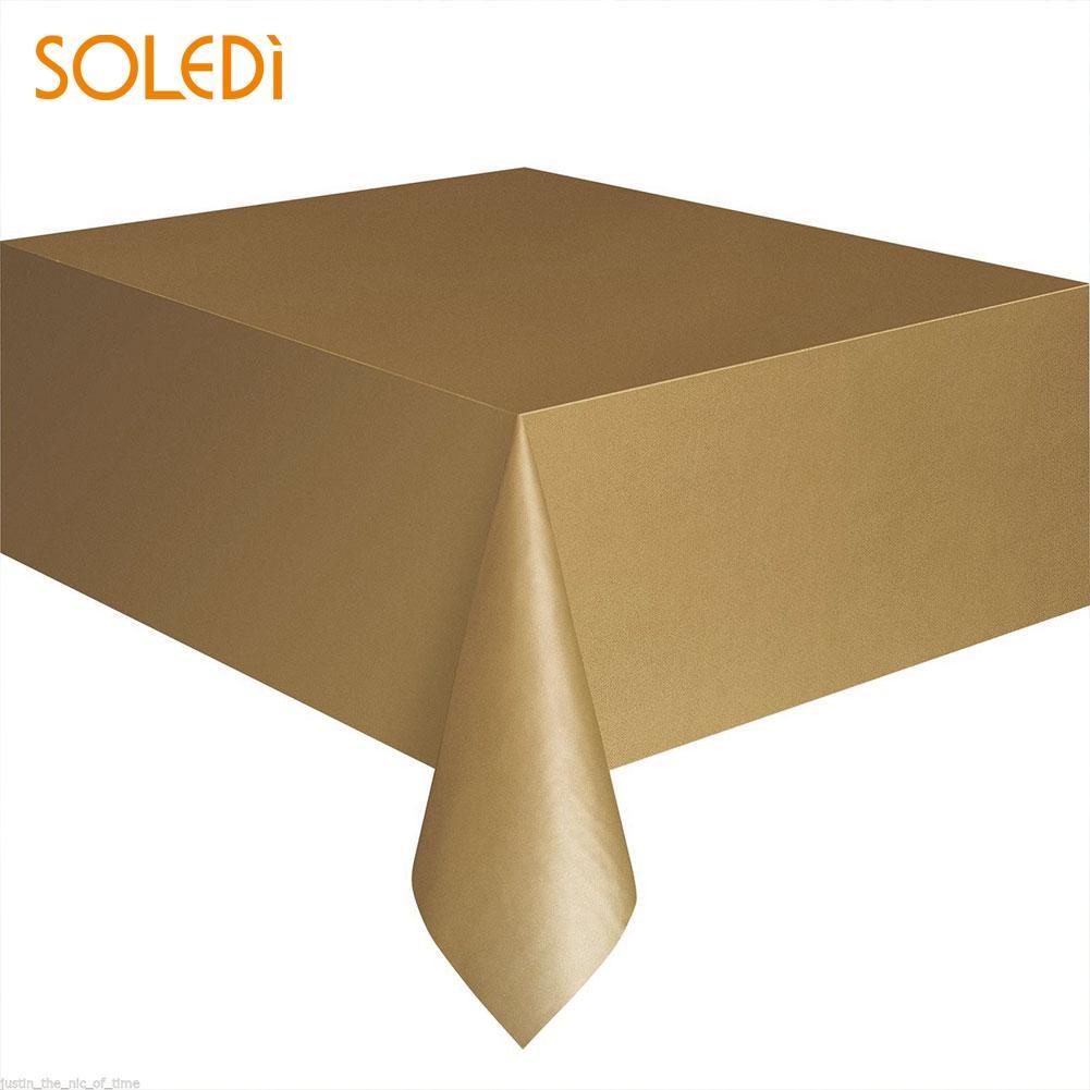 SOLEDI 20 цветов мягкий настольный бегун скатерть пластиковые товары для дома одноразовая скатерть для стола украшение стола - Цвет: gold
