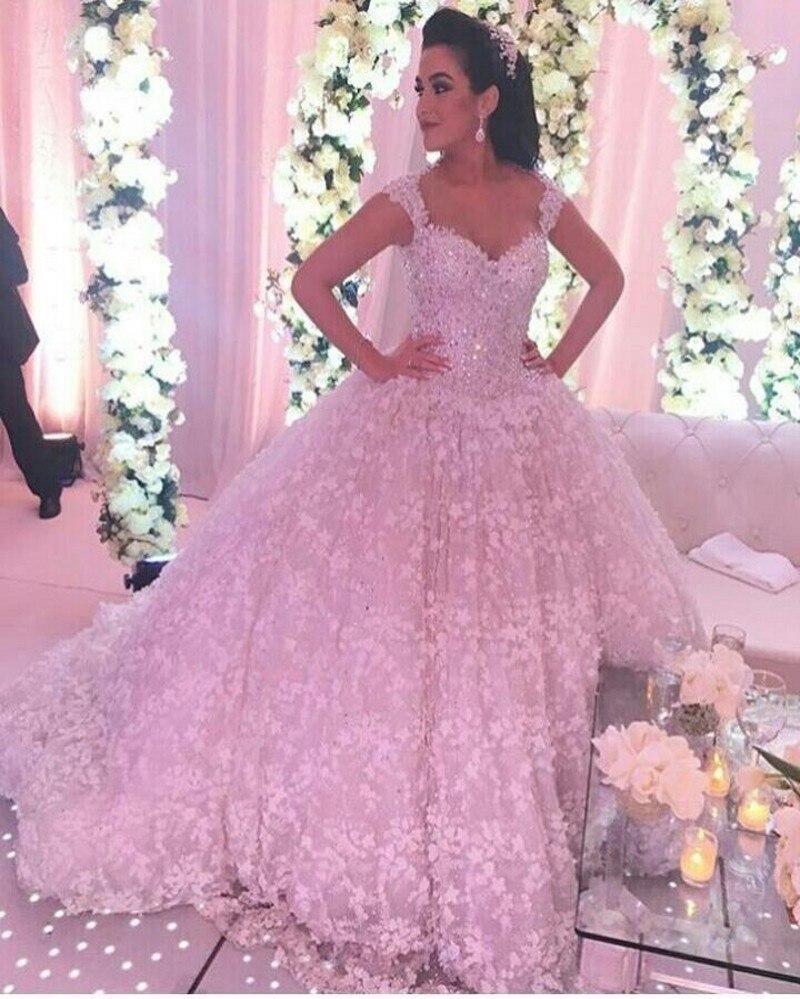 Vestido De Noiva 2017 Vintage Cathedral Train Lace Wedding Dress ...