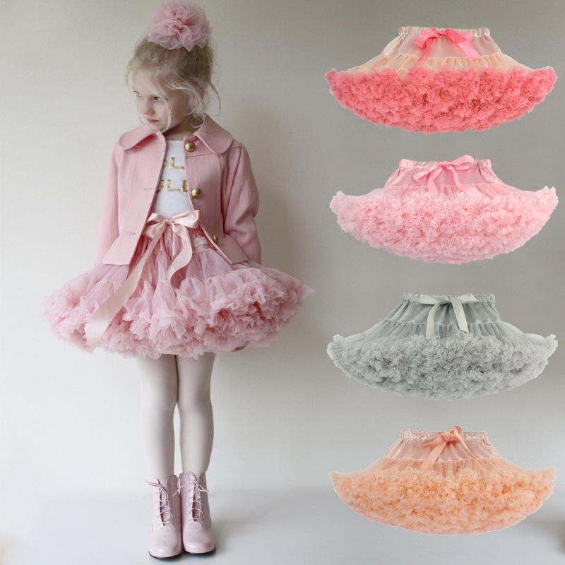 Drop Shipping Baby Girls Tutu Skirt Fluffy Children Ballet Kids Pettiskirt Baby Girl Skirts Princess Tulle Party Dance Skirts