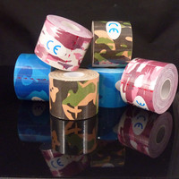 Sport Camouflage Kinesiology Tape 5cm 5m Kinesio Tape Cottone Elastic Adhesive Muscle Strain Injury Physical Therapy