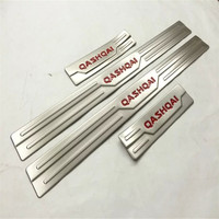 4PCS SET Accessories Door Sill Scuff Plate Guard Stainless Door Sills Protector Sticker For Nissan Qashqai