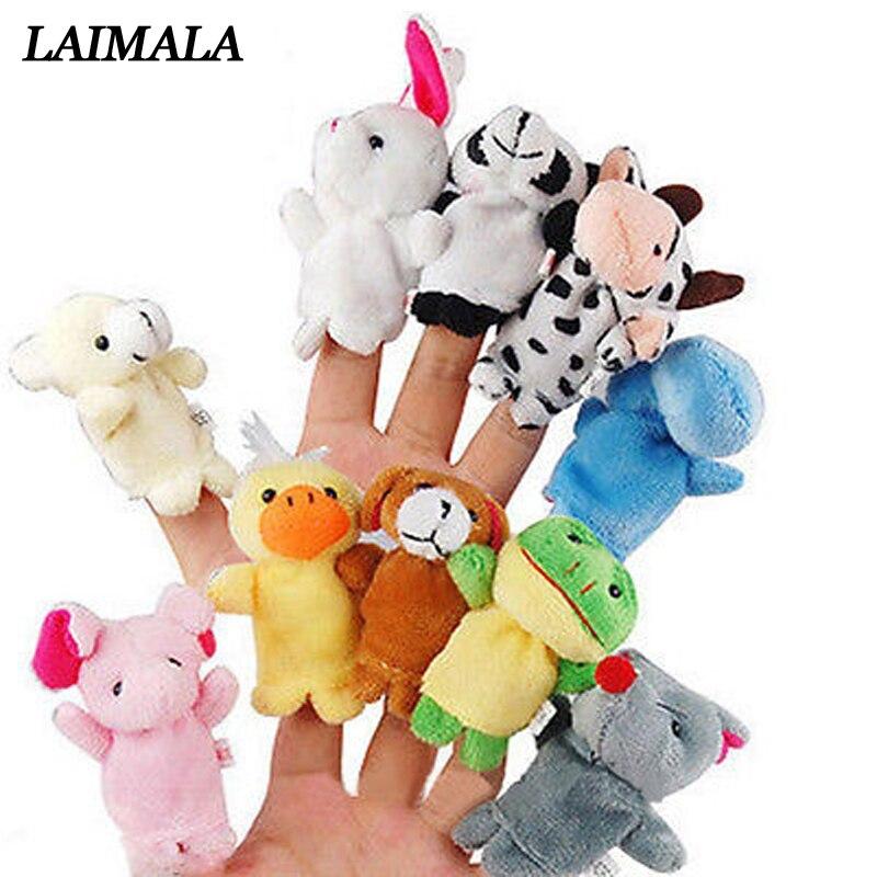 10pcs/Lot Cartoon Animal Velvet Finger Puppet Finger Toy Finger Doll Baby Cloth Educational Hand Toy Story