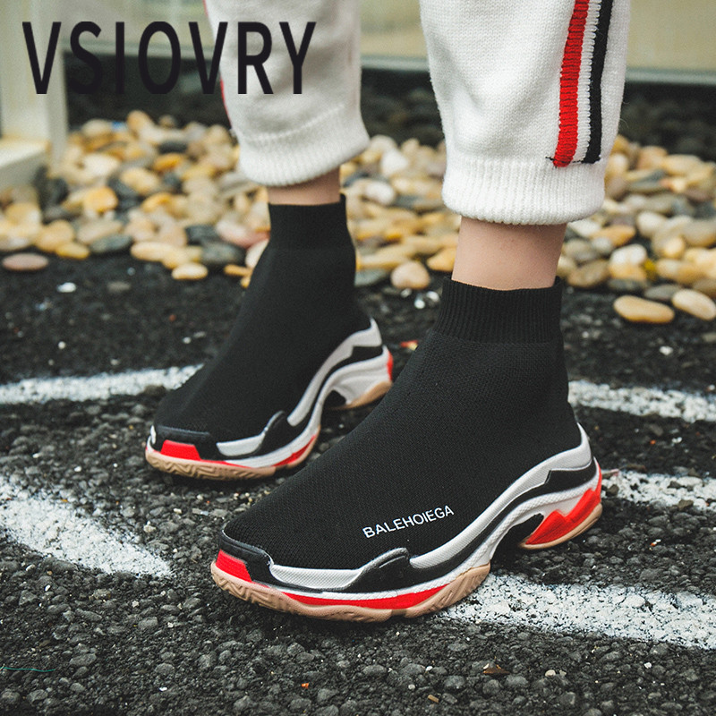 VSIOVRY 2018 Big Size Women Running Shoes Fly Weave Breathable Cushioning Sneakers For Women Outdoor Jogging Walking Sport Shoes