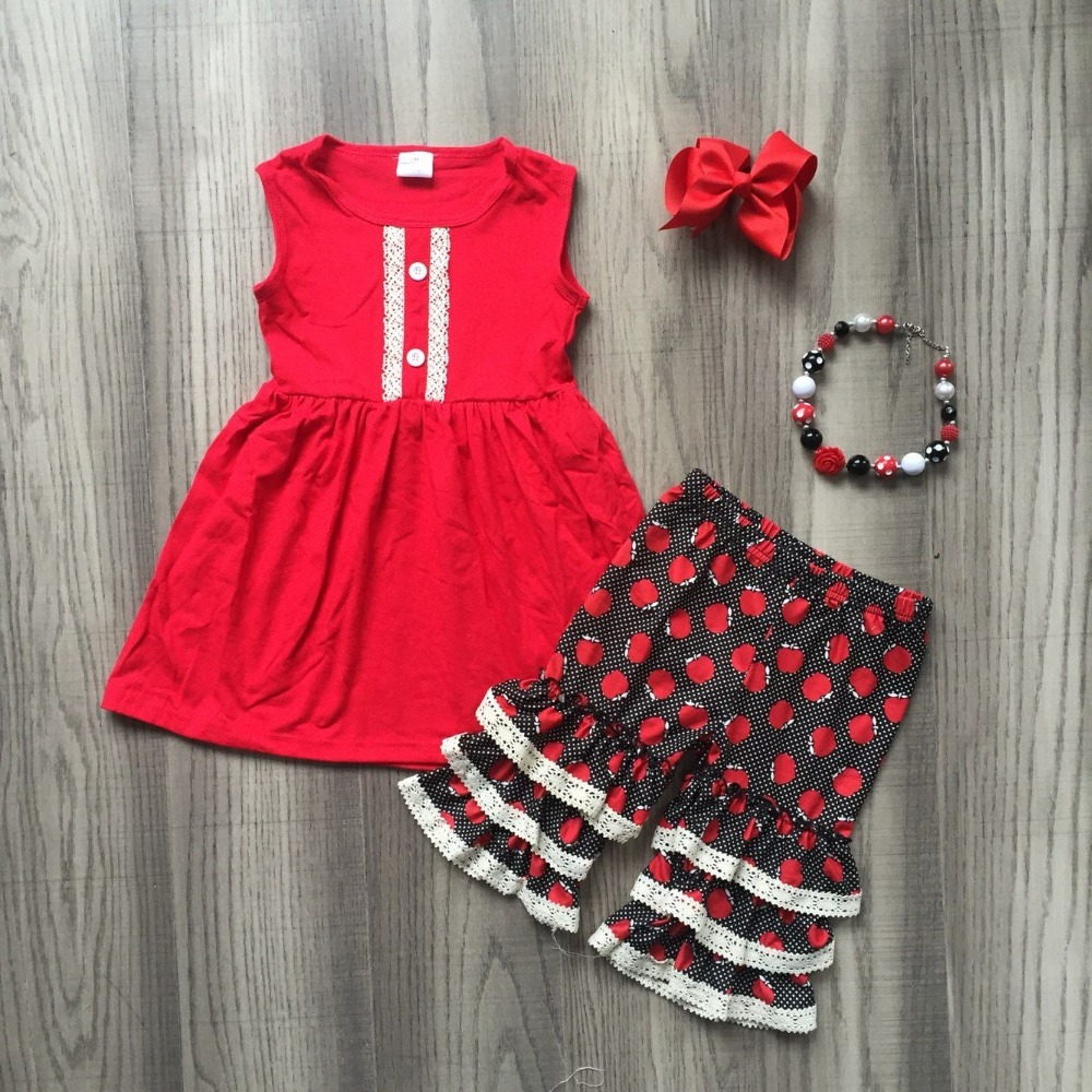 a5f2423c7e1bb new summer girl clothes woven striped plaid ruffle baby kids wear ...