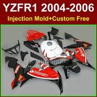 Пользовательские краска для литья под давлением Обтекатели комплект для Yamaha R1 2004 2005 2006 YZFR1 04 06 YZF 1000 Santander мотоцикл наборы обтекателей