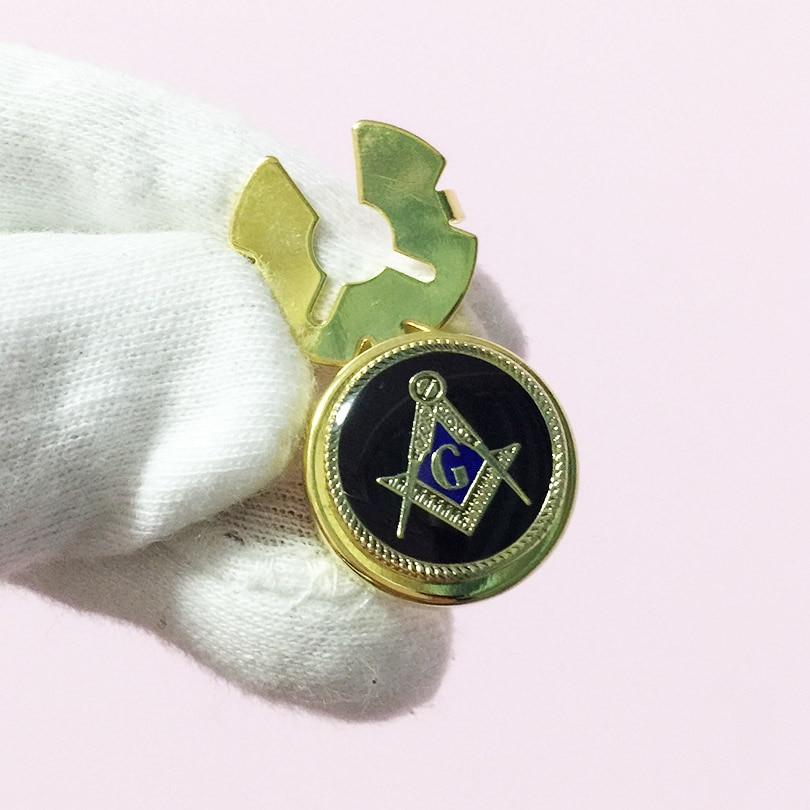 20pcs Masonic Lapel Pin Badge Freemasonry Masons Craft Black Enamel G Compass and Square Pins Metal