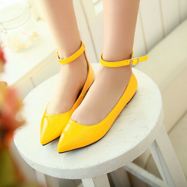 bf48ef308ef New fashion Extra large shoes british style ankle strap ladies summer flat  shoe EUR 34-49