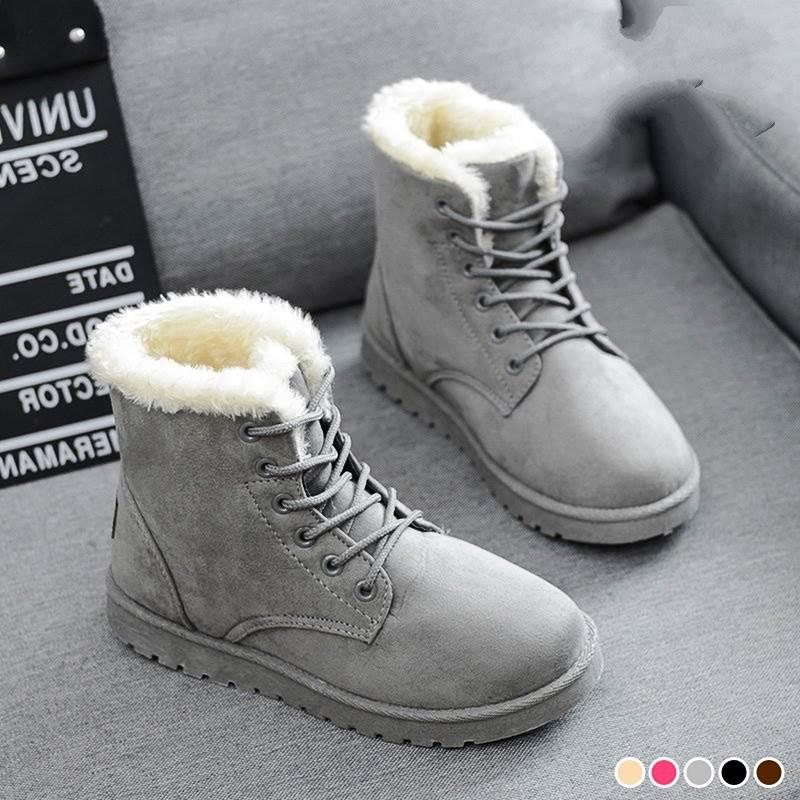 2018 Winter Frauen Stiefel Für Winter Schuhe Casual Mode Schwarz Rot Braun Warme Frauen Schnee Stiefel Plus Größe Ab119 Gesundheit Effektiv StäRken