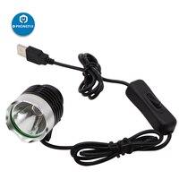 PHONEFIX LED Lamp UV Glue LED Light Ultraviolet Green Oil Curing Purple Light Repair Tool for Mobile Phone Circuit Board Repair