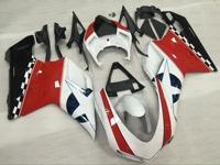 Мотоцикл обтекателя 848 2009 Пластик Обтекатели 1198 2011 2007 2011 белый красные, черные мотоциклетные обтекателя Для DUCATI 1098 2007