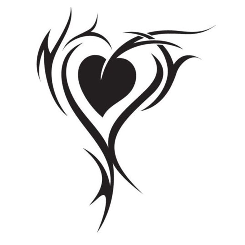 Heart Tribal Decal for YetiHeart decalDecal for CarDecal for Laptop