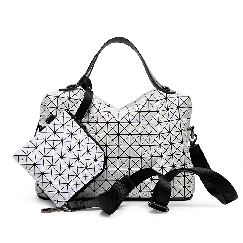 European Style Women shoulder Bag tote Big Geometric Issey Miyak Bag Luxury Brand Designer High Quality Handbag 794 lauwoo women luxury brand tote bag high quality ladies casual tote bag girls vouge european and american style tote bag