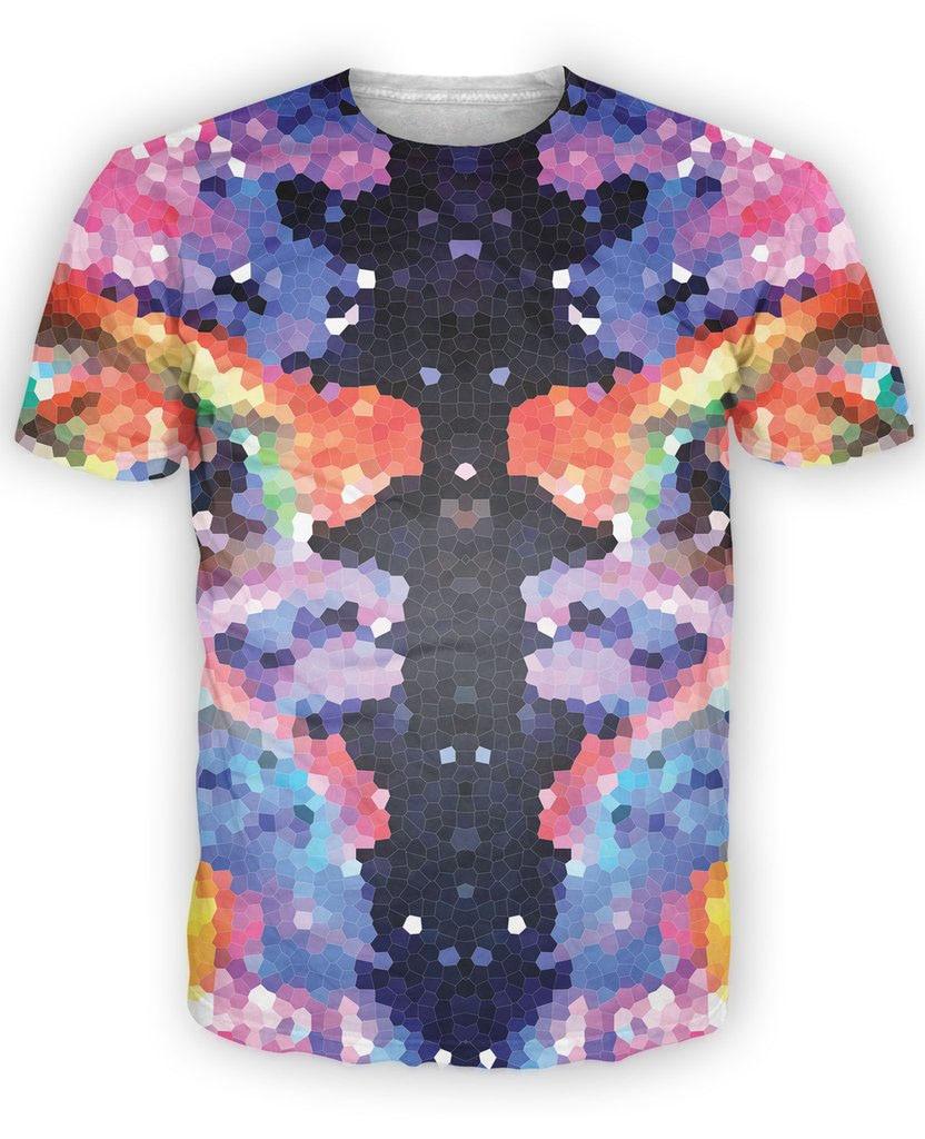 0945a824cd05 ᐅCristal Symétrie T-Shirt belle géométrique 3d coloré tout-plus ...